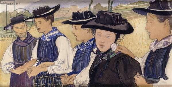 Valaisannes, 1910 (w/c on paper)