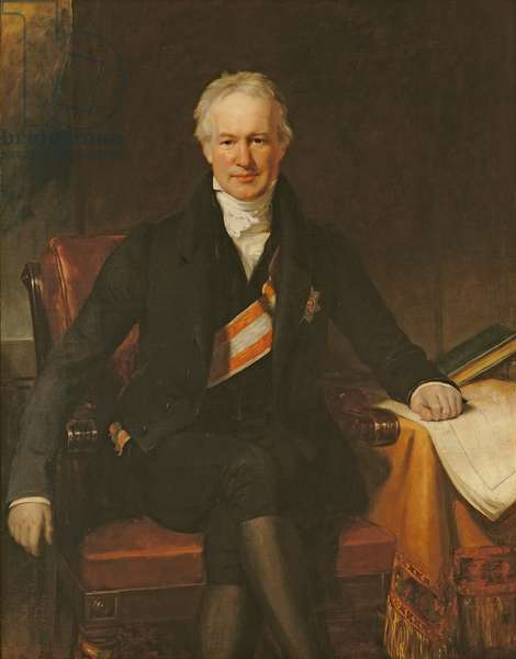 Baron Alexander von Humboldt (oil on canvas)
