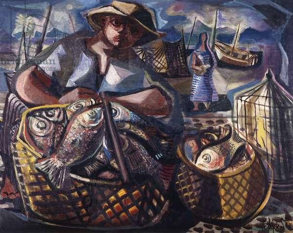 Fisherman, 1946 (oil on canvas)