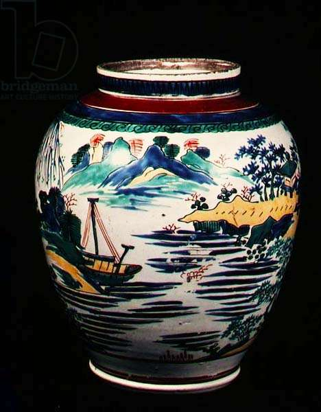 Kakiemon porcelain Japanese jar, c.1670
