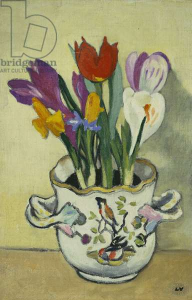 Vase of Flowers, c.1920 (oil on canvas)