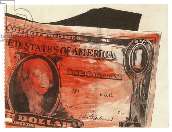 One Dollar, 1961 (watercolour and graphite on paper)