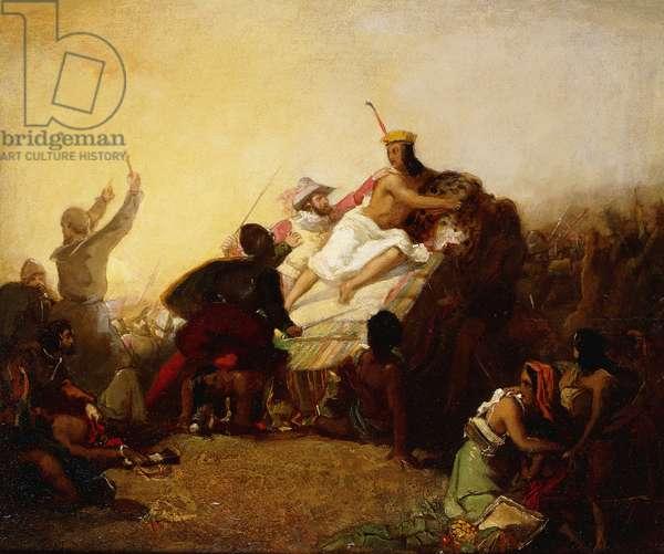 Pizarro Seizing the Inca of Peru, 1846 (oil on canvas)