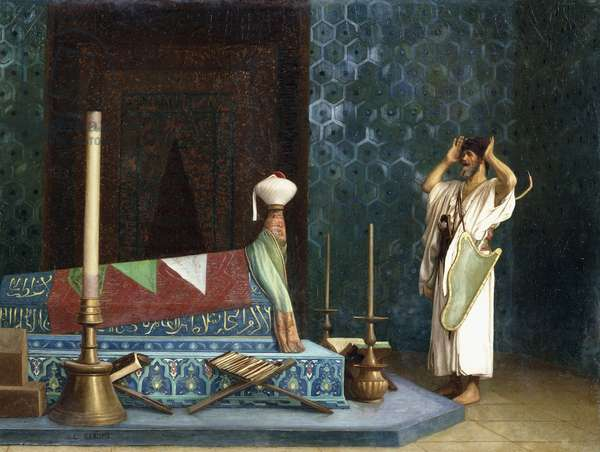 Prayer at the Sultan's Room (The Grief of Akubar),  (oil on canvas)