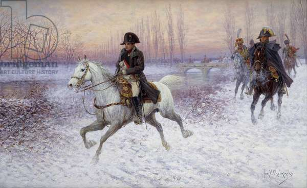 Napoleon at the Head of a Troop of Cavalry, (oil on canvas)