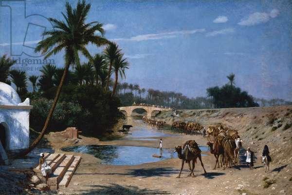The Caravan (oil on board)