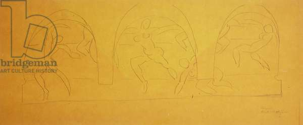 Study For The Dance, 1931-32 (pencil on tracing paper)