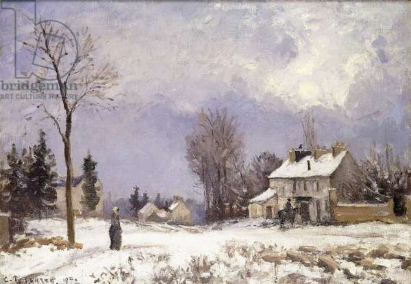 The Versailles Road at Saint-Germain at Louveciennes, 1872 (oil on canvas)