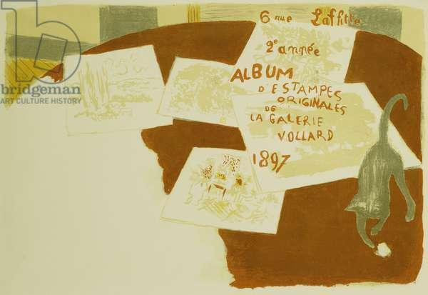 Cover for 'The Album of Original Prints from the Vollard Gallery'; 'Album d'Estampes Originales de la Galerie Vollard', 1897 (lithograph in colours)