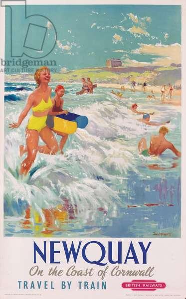 'Newquay', poster advertising British Railways, c.1956 (colour litho)