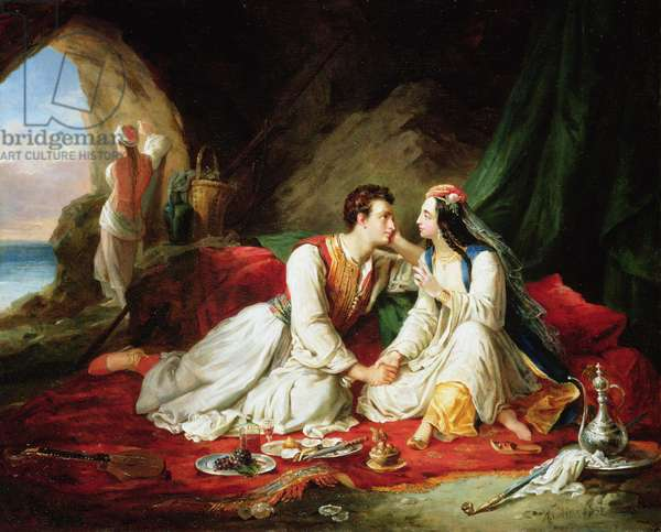 Byron as Don Juan, with Haidee, 1831 (oil on canvas)