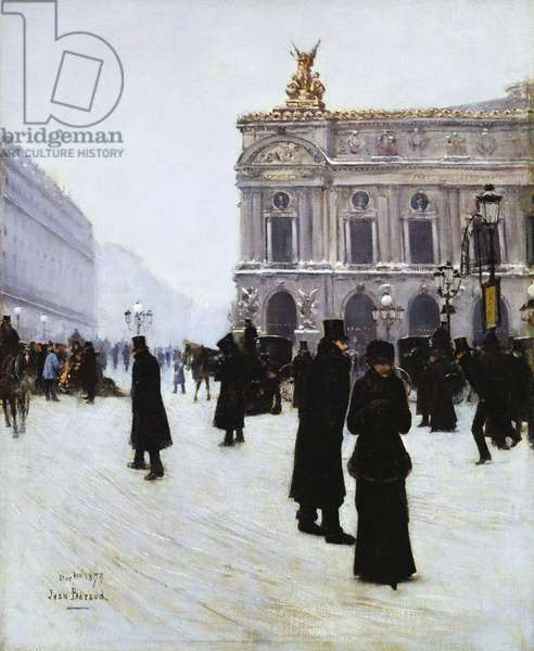 Outside the Opera, Paris, 1879 (oil on canvas)
