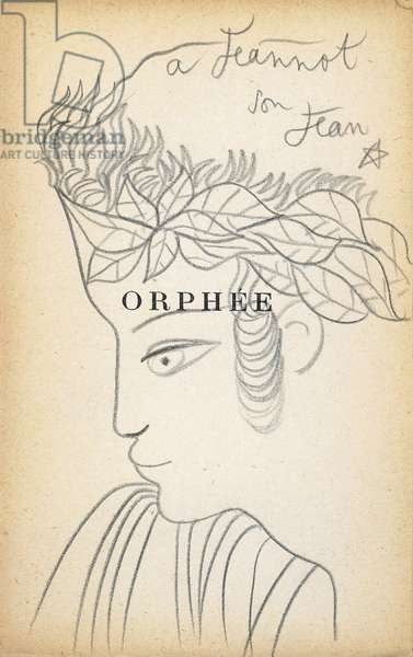 Orpheus, with a dedication to Jeannot (Jean Marais), 1927 (original drawing)