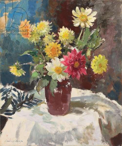 Summer Flowers,  (oil on canvas)