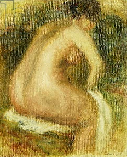Nude Woman Bathing; Femme Nue Assise, 1910 (oil on canvas)