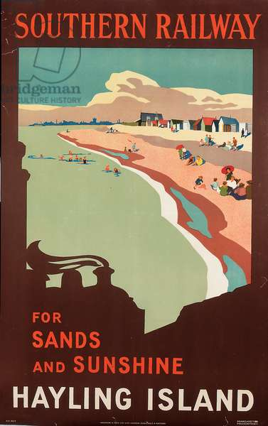 Hayling Island, poster advertising Southern Railway, 1923 (colour litho)