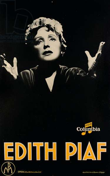 Poster depicting 'Edith Piaf', c.1920 (litho)