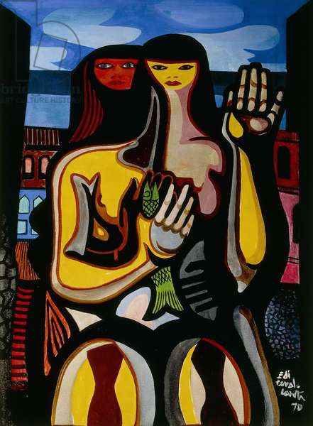 Women and Fish; Mulhares e Peixe, 1970 (oil on canvas)