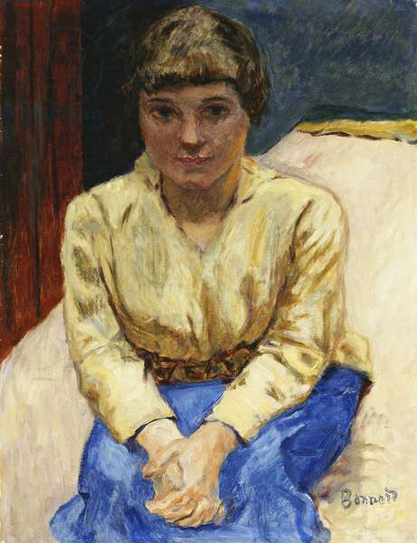 Girl Sitting, with Hands Crossed; Jeune Fille Assise, les Mans Croisees, c.1916 (oil on canvas)