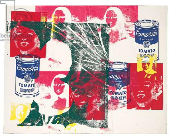 Multicoloured Retrospective Painting, 1979 (acrylic and silkscreen inks on canvas)