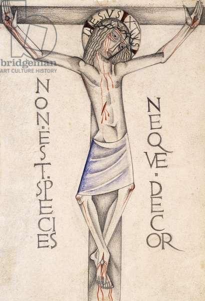 Crucifixion, c.1922 (pencil and watercolour)