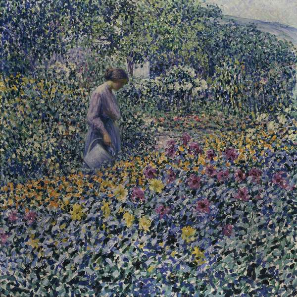 Watering the Flowers, c.1912 (oil on canvas)