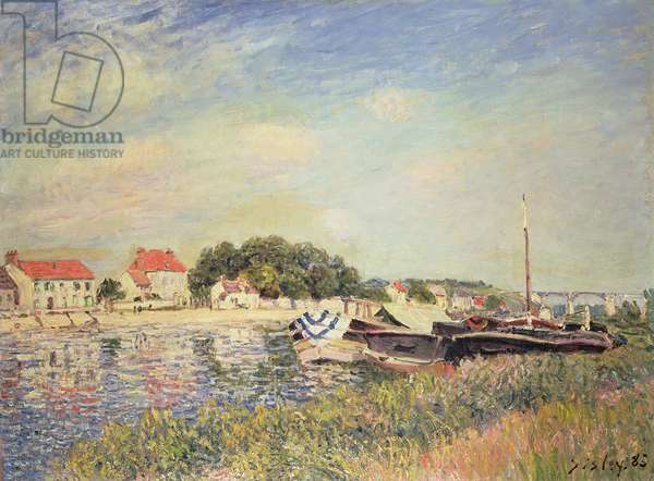 The Banks of the Loing at Saint-Mammes, 1885 (oil on canvas)