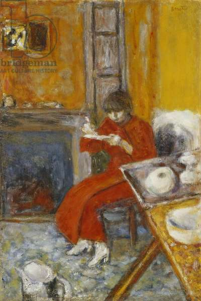Woman in Red Robe; Femme au Peignoir Rouge, 1916 (oil on canvas)