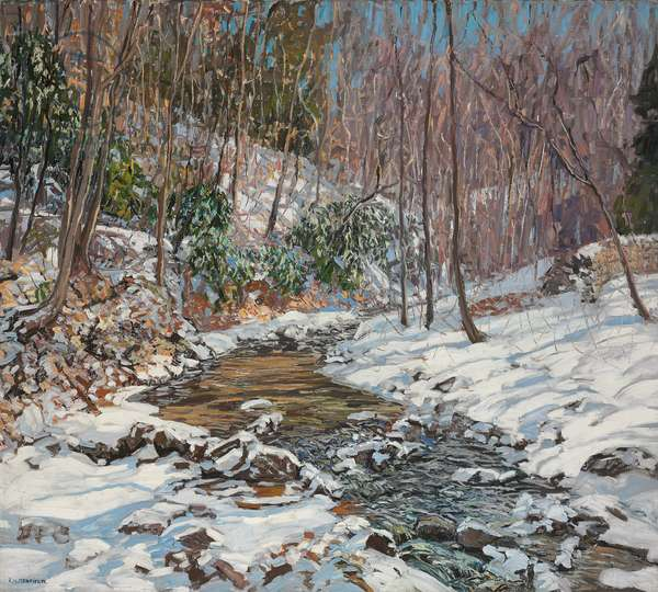 Woodland Brook, c.1914 (oil on canvas)