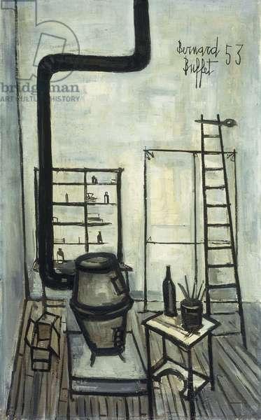 the Studio; L'Atelier, 1953 (oil on canvas)