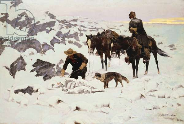 The Frozen Sheepherder, 1900 (oil on canvas)