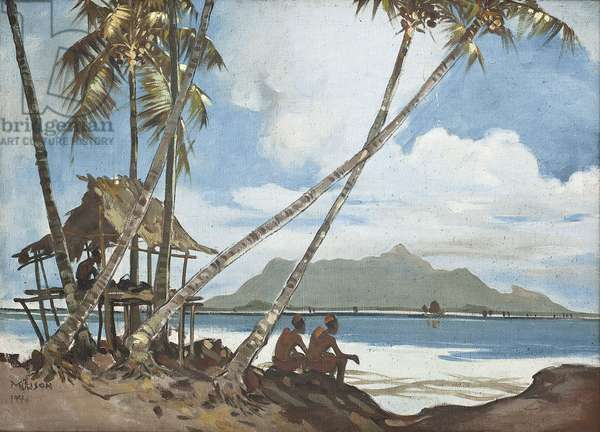 Looking at Kedah Point from Penang Beach, 1946 (oil on canvas)