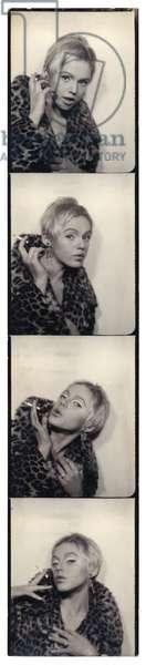 Edie Sedgewick, 1965 (gelatin silver photobooth strip)