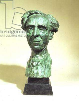 Portrait Head of Bertrand Russell by Jacob Epstein (1880-1959)