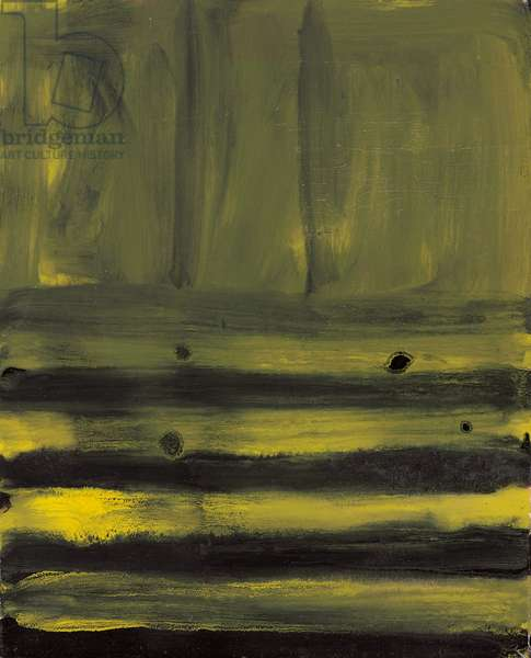Untitled, c.1958 (enamel and oil on canvas laid down on stretched canvas)