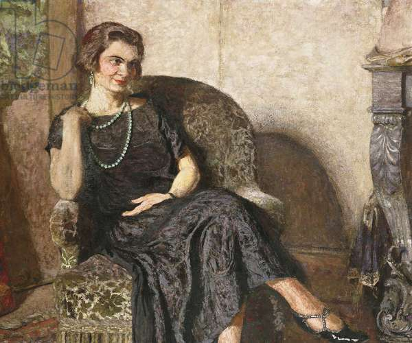 Portrait de Mme Fridette Satton, 1923 (peintre a la colle on canvas)