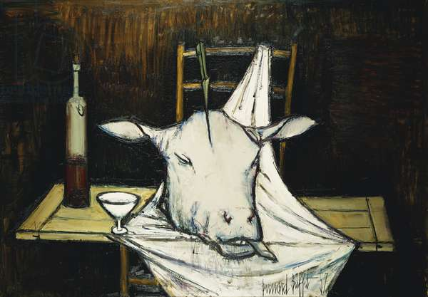 Still Life with Cow's Head; Nature Morte a la Tete de Boeuf, 1957 (oil on canvas)