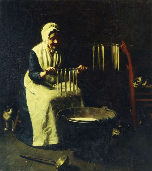 The Candle Maker, 1925 (oil on canvas)