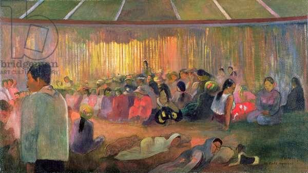 Te Fare Hymenee (The House of Hymns), 1892 (oil on burlap)