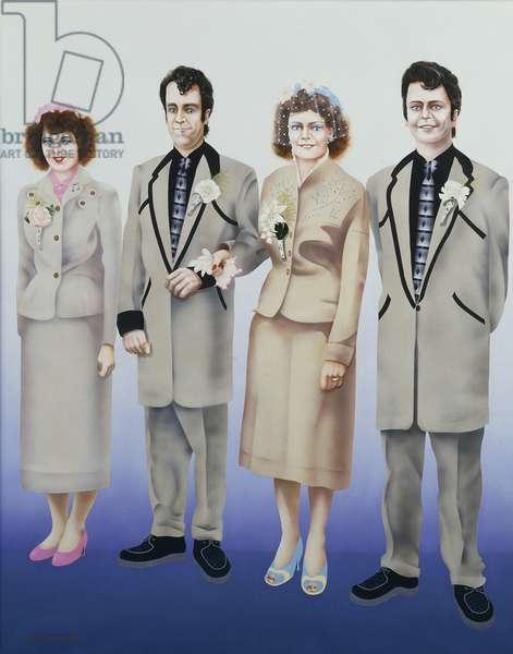 Teddy Boys Wedding, (acrylic on canvas)