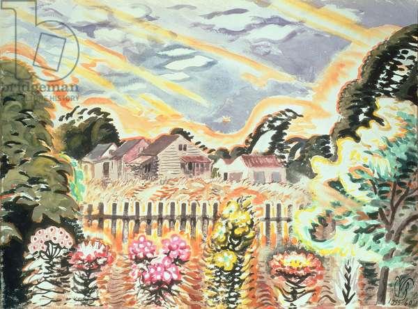 Hot July Wind, 1955-60 (w/c on paper)