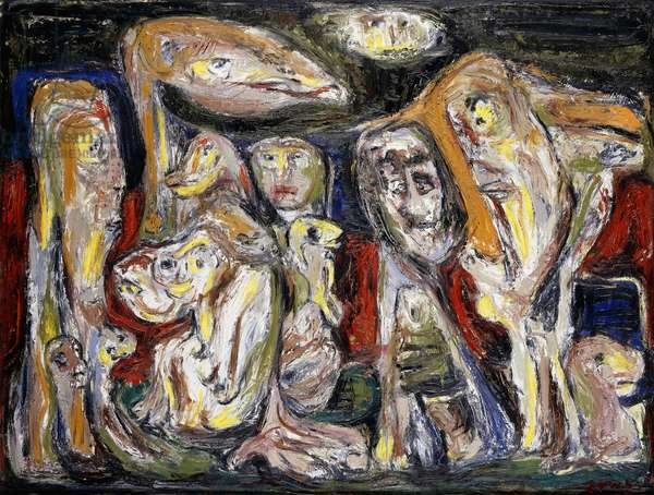 The Emigrants, 1953 (oil on board)