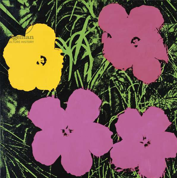 Flowers, 1964 (synthetic polymer silkscreened on canvas)