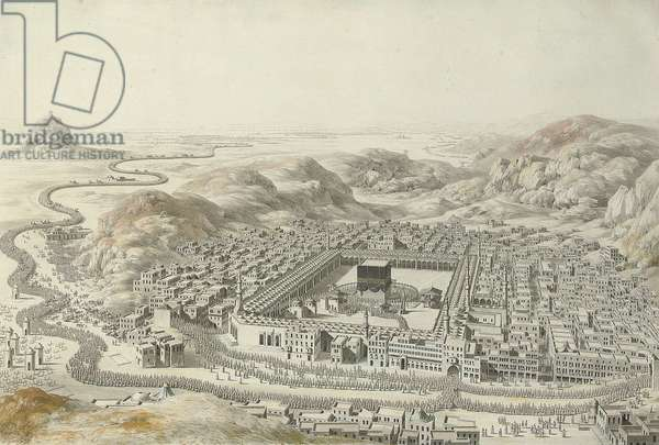 Mecca, 1787 (pencil, ink, grey wash & w/c heightened with white, on paper)