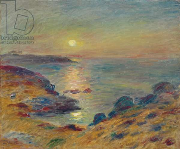 Sunset at Douarnenez, c. 1883 (oil on canvas)