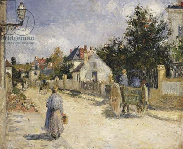 Road in Pontoise, 1879 (oil on canvas)