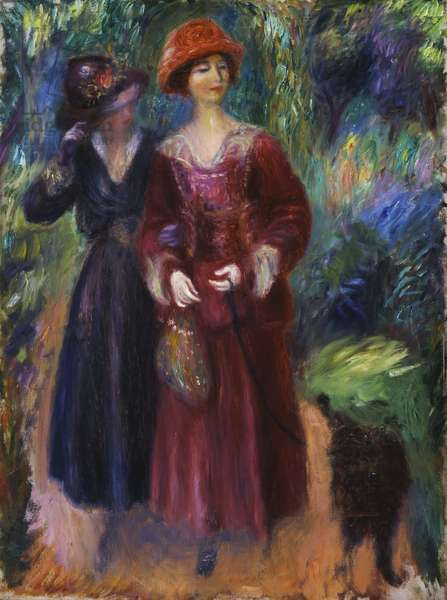 A Stroll in the Park, 1915-1918 (oil on canvas)