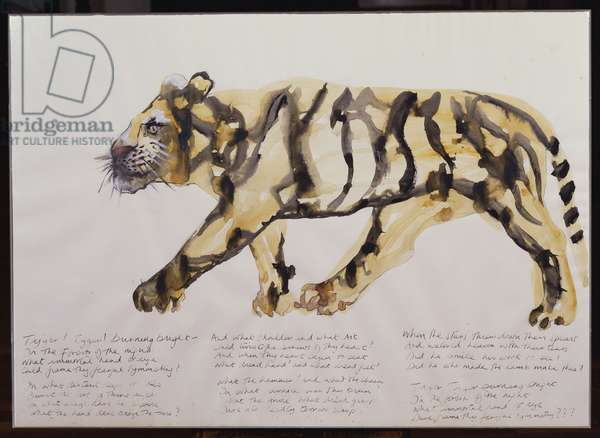 Tyger, Tyger (w/c, brush & black ink and pencil on paper)