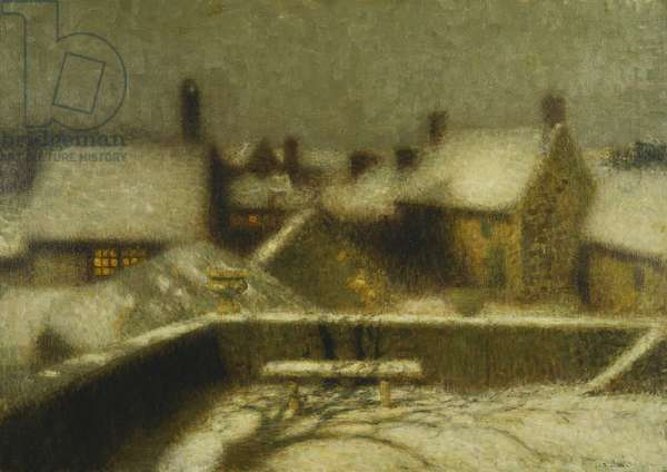 Gerberoy in the Snow; Gerberoy Sous la Neige, c.1900 (oil on canvas)