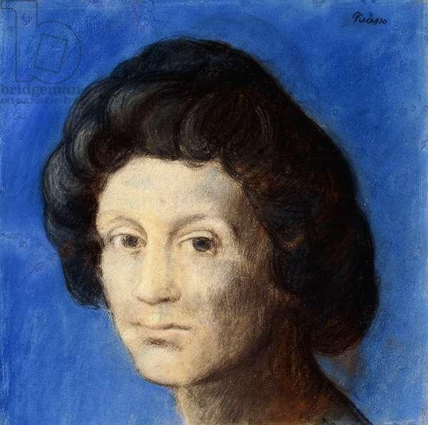 Head of Woman; Tete de Femme, 1903 (pastel on paper laid down on paper)